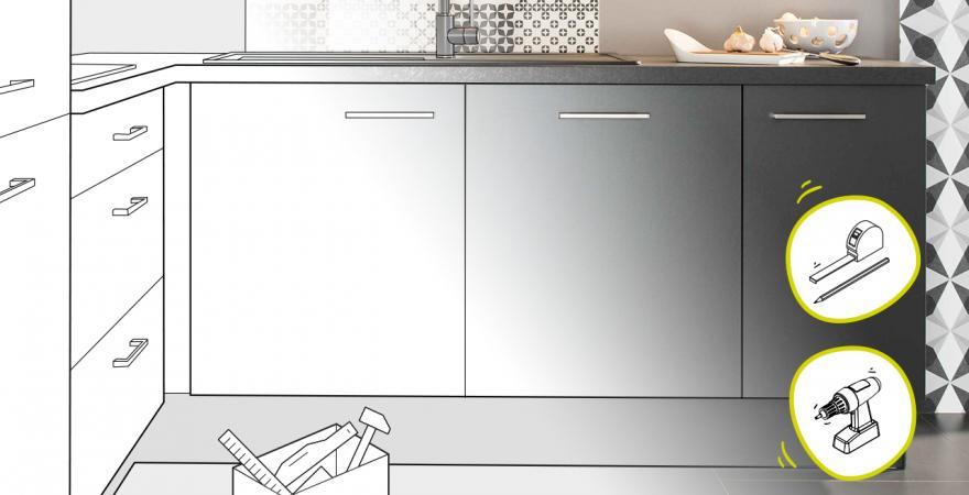 Tuto pose cuisine poser un meuble bas sous-évier