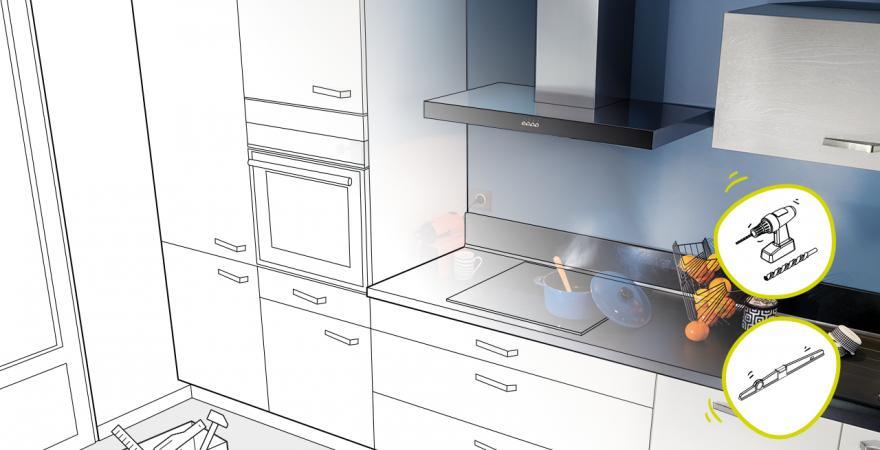 Tuto pose cuisine poser une armoire