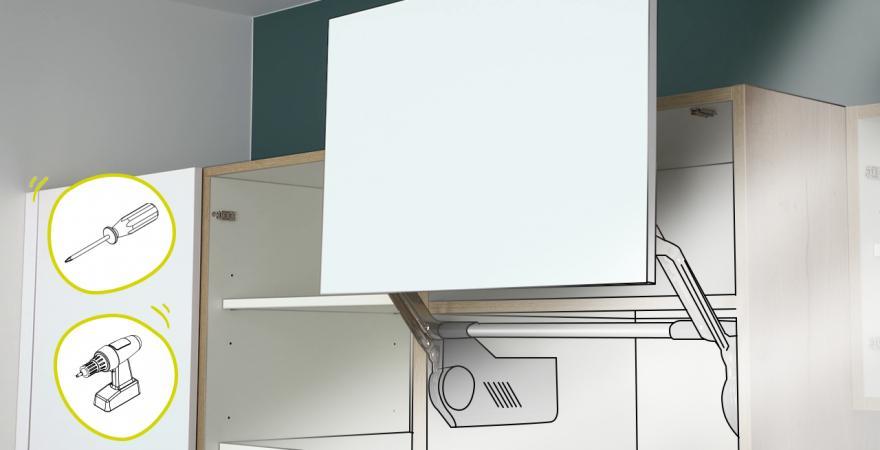 Tuto réglage meuble cuisine mécanisme lift